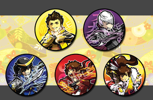 :: Button set - BASARA by shadow-freak
