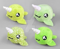 Green Narwhal Plush Collection by SewDesuNe