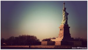 Statue of Liberty Sunset by EyeForPhotography