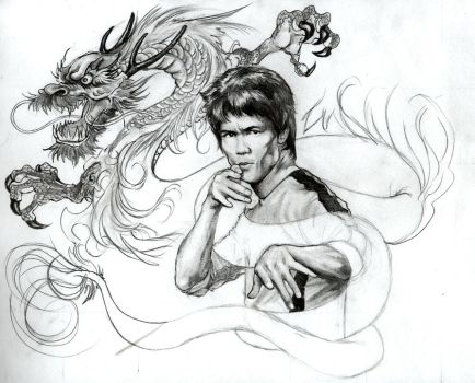 Bruce lee wip 2 by YannWeaponX