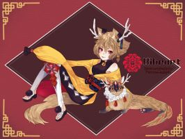 [CLOSED]Auction Adopt Collab Biheart Oriental by sarahwidiadopts