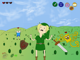 Adventure Time Meets Legends of Zelda by studio-adhd
