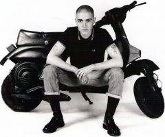 skinhead with scooter by SkinByrd69