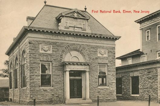 Vintage New Jersey - First Nat. Bank, Elmer by Yesterdays-Paper