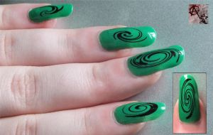 Green Swirl by AnarchyAi