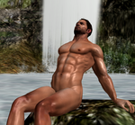 Chris relaxing at a spring by R0ck4x3