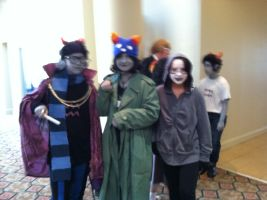 Eridan and Nepeta (Don't mind Cronus in the back) by Undead-Autumn
