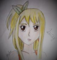 Lucy Heartfilia - Drawing (Colour) by Lillylulla
