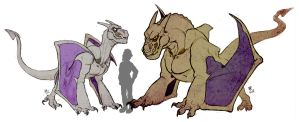 Pokemon: Steyr and Brutus by TheropodMonster