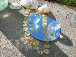 Golden Swirl Necklace by susieecool