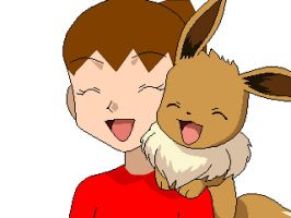 Me and Eevee by chibivampire1997
