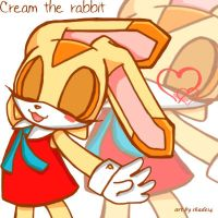 cream the rabbit by shade14