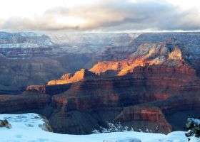 Grand Canyon with Snow by LaurelPhotoandCraft