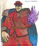 M. Bison, felt-tip-pen by SlavecDemon