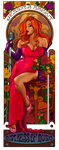 Nouveau Yaya as Jessica Rabbit by hatchback-girl