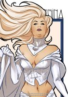 Emma Frost detail by ChrisEvenhuis