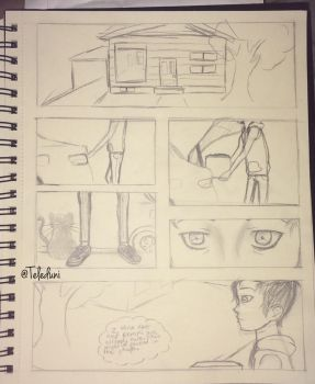 Practice Comic Page ((extreme rough sketch)) by Teleduni
