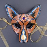 Jeweled Wolf Mask by merimask