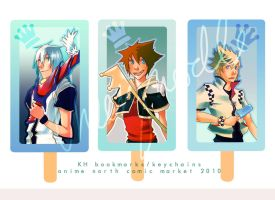 KH bookmarks.keychains set 1 by cheesynoodle