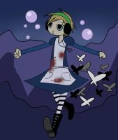 -Alice Madness- Drunk Pewds in the Underwater by Vey-kun