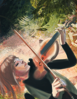 SpeedPaint - Lindsey Stirling by Down-The-Stairs