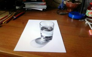 glass of water 3D by Sany-lebedev