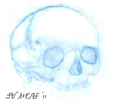 Water Wash Embossed Skull by ShurumiTattoomi