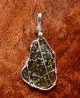 Moldavite pendant by lamorth-the-seeker