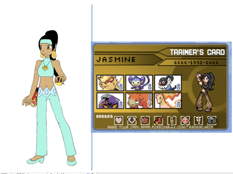 Jasmine Pokemon Trainer by 516tigergirl