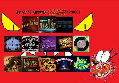 Favorite Courage the Cowardly Dog Episodes part 2 by TandP