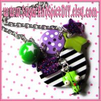 Gir Button And Chains Necklace by SugarAndSpiceDIY
