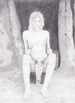 Drawing Cave Witch by paulwreed