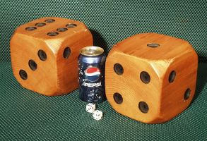 Big Wooden Dice by Itsmerick
