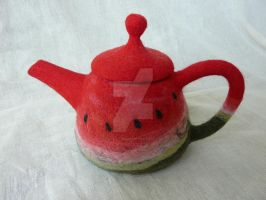 Watermelon teapot by toys-of-alice