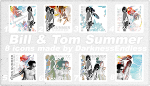 Icons: 8 Bill and Tom Summer by DarknessEndless