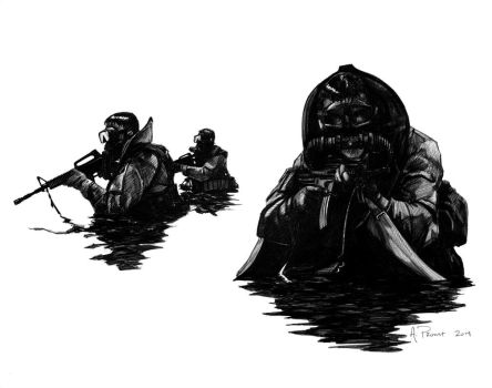 Combat Divers by aaronprovost