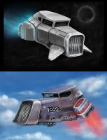 flying hot rod concept by LMorse