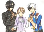 Victor X Lara X Ludger by ClaireRoses
