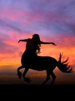 Centaur Sunset stock by Rhabwar-Troll-stock