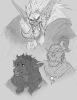 Warcraft_doodles by Kerneinheit