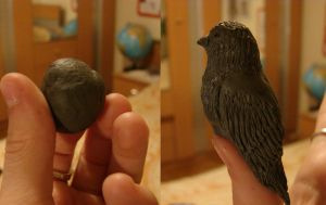 bird out of kneadable eraser by SunnyFire