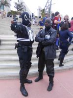 Agent Venom with Nick Fury by pa68