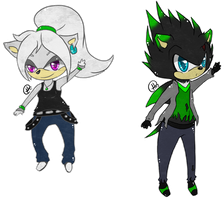 Gift -= Chibi Vice and Delilha =- by Makojupiter