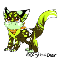 Lime N dark chocolate kitten auction :closed: by Apriifox