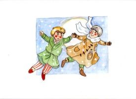 IVAN AND ARTHUR 'WALKING IN THE AIR' by barmybritishbird