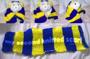 my second knitted scarf by ilovegravy
