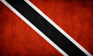 Trinidad Grunge Flag by think0