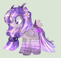 mlp purple flower pegasus OTA (OPEN) by KawaiiCaniball