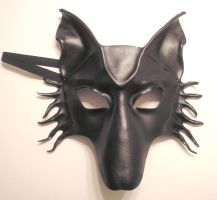 Black Leather Wolf or Dog Mask by teonova