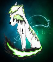 Taigo- Glow in the Dark Wolf by OreoThePenguin